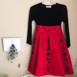 Rare editions dress.Size 6 girls.Red &black colors